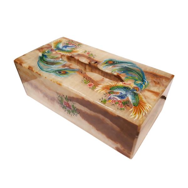 جعبه دستمال کاغذی سنگ مرمر طرح سیمرغ کد 2211