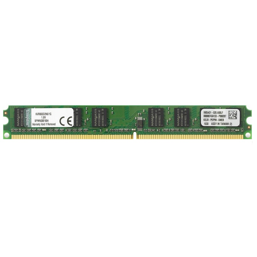 رم دسکتاپ DDR2 تک کاناله 800 مگاهرتز CL6 کینگستون مدل KVR800D2N6 ظرفیت 1 گیگابایت