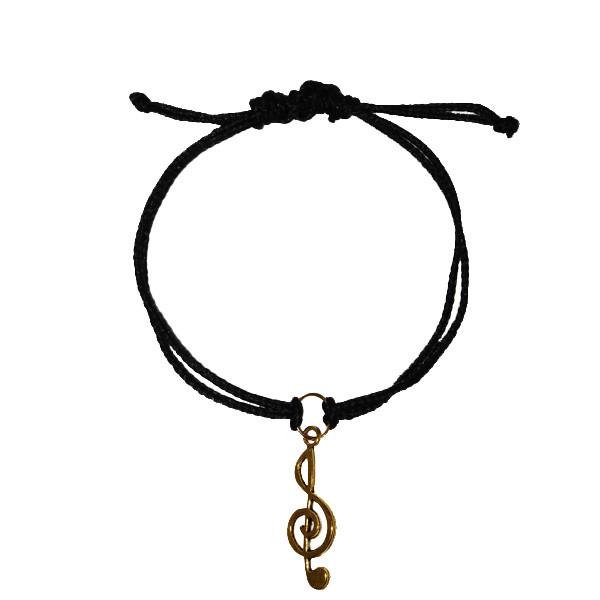 دستبند زنانه طرح نت موسیقی کد 07