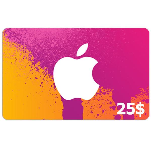 گیفت کارت 25 دلاری آیتونز