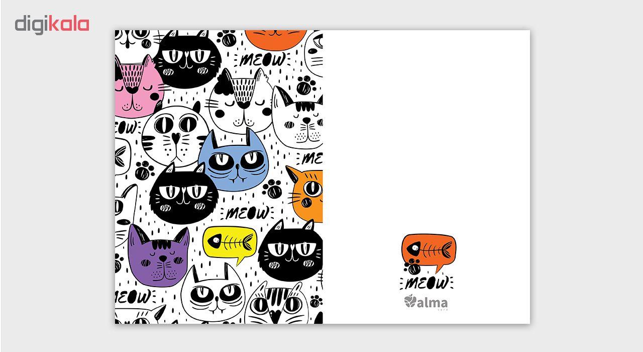 کارت پستال آلماکارت طرح گربه ها مدل Clo5012