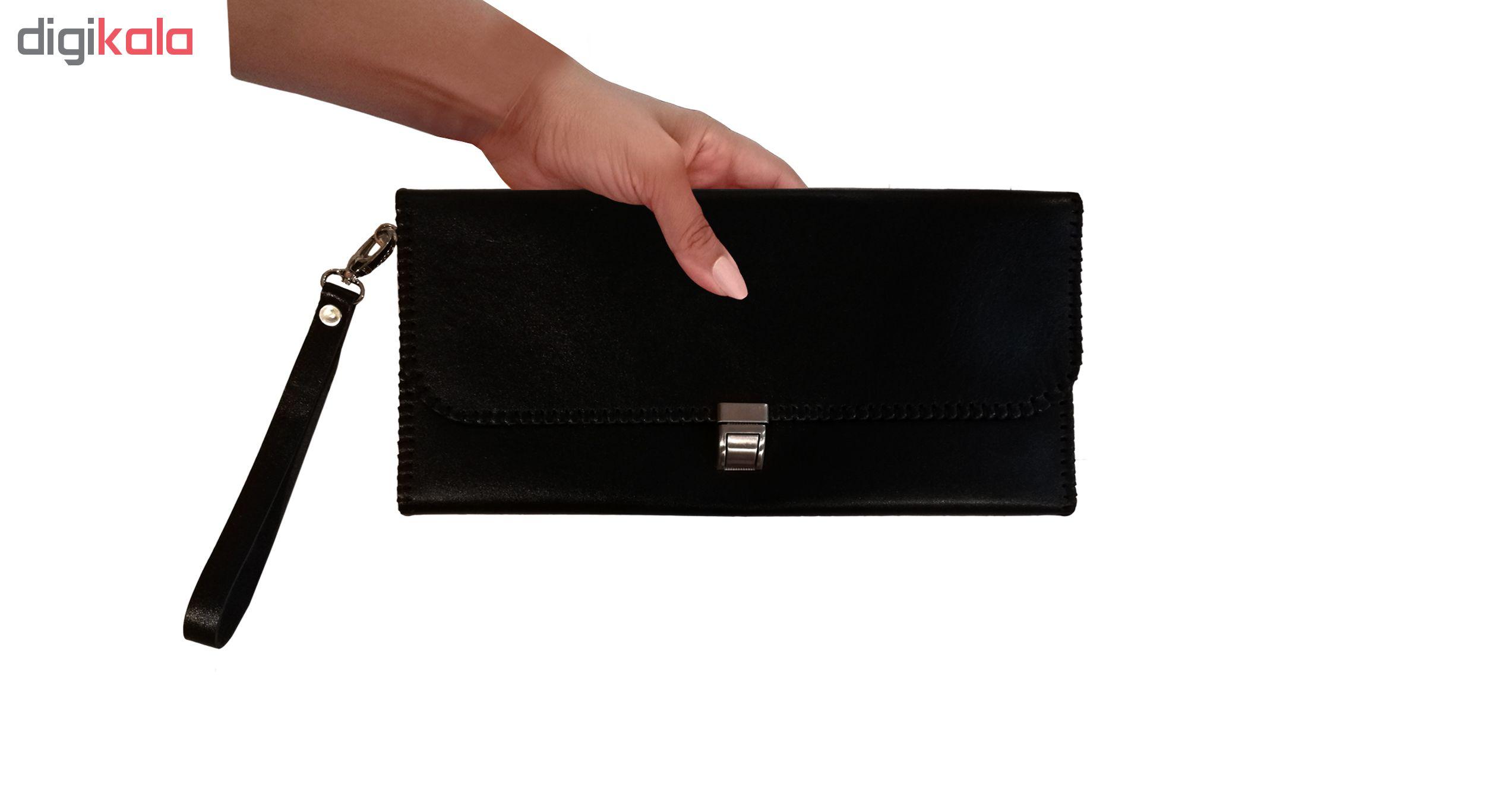 کیف  چرمی مدل دسته چک کد MRK2