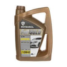 روغن موتور خودرو پترونول مدل  فول گلد نیمه سینتتیک SAE 10W-40 ظرفیت 4 لیتر