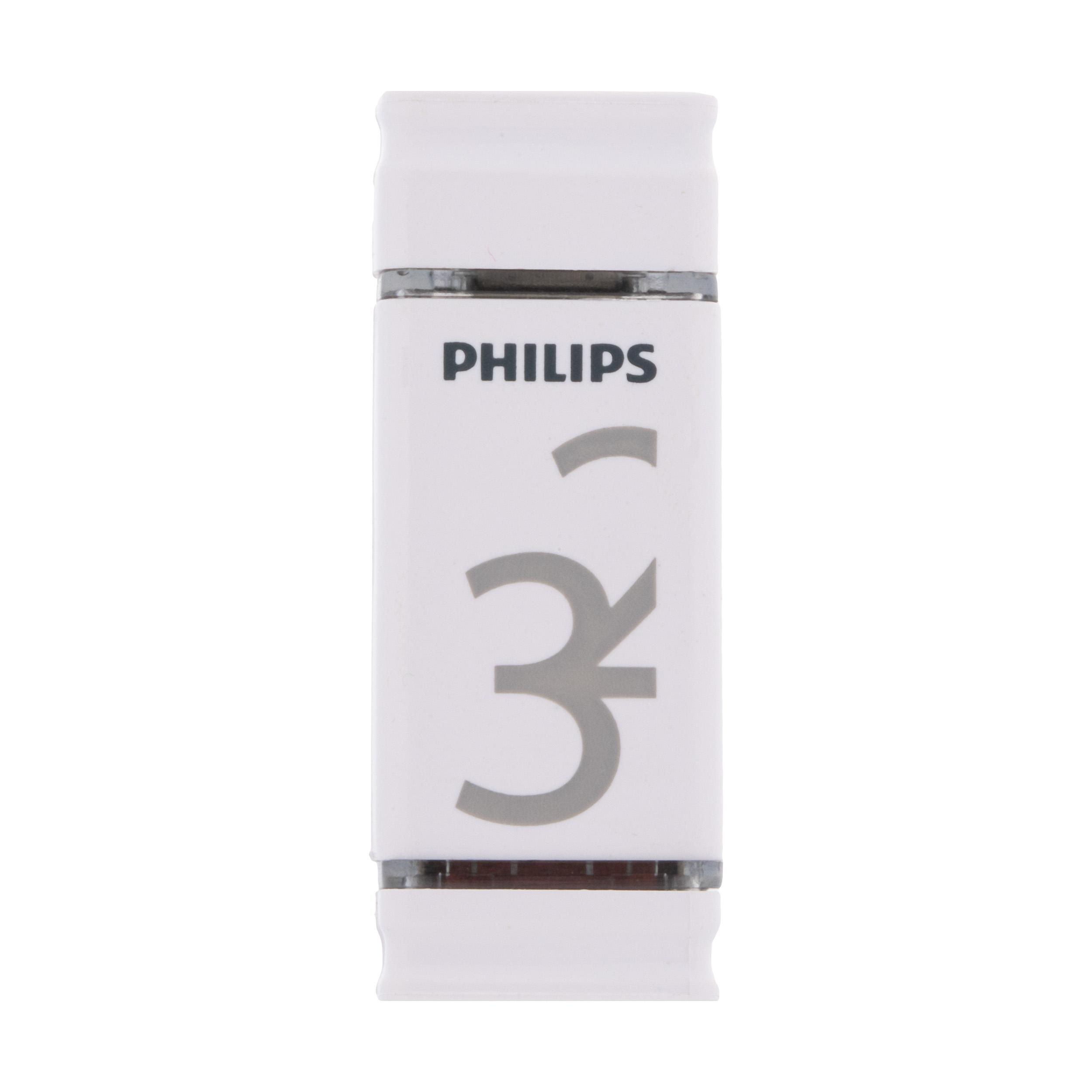 فلش مموری فیلیپس مدل Dueto-FM32FDI28B ظرفیت 32 گیگابایت