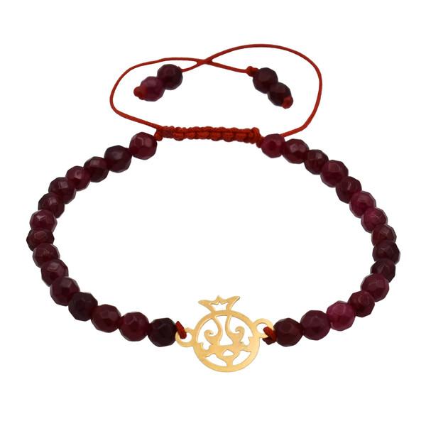 دستبند طلا 18 عیار زنانه طرح انار کد 315M125