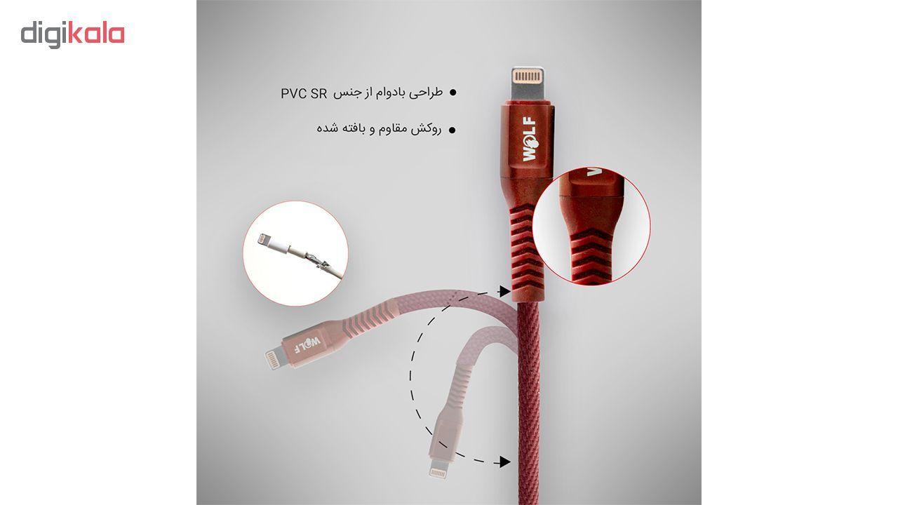 کابل تبدیل USB به لایتنینگ ولف مدل Ds2.4 طول 1 متر main 1 6