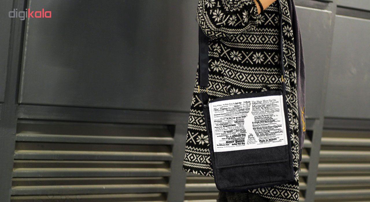 کیف دوشی گالری چی چاپ طرح فردی مرکوری کد queen