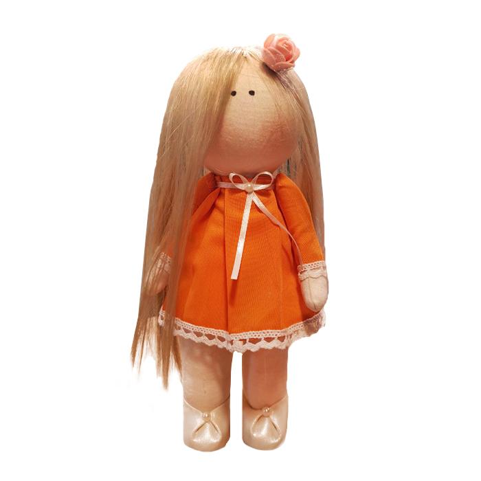 عروسک طرح  روسی طرح دختر پرتقال ارتفاع 30 سانتی متر