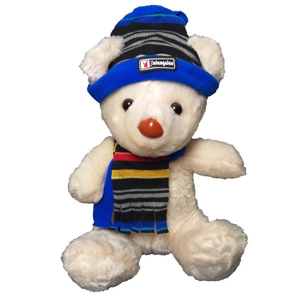 عروسک طرح خرس زمستانی کد 557 ارتفاع 28 سانتی متر