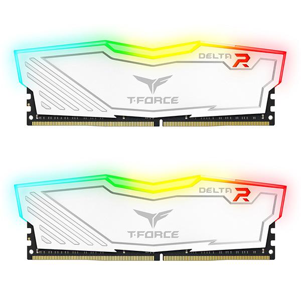 رم دسکتاپ DDR4 دو کاناله 3200 مگاهرتز CL15 تیم گروپ مدل T-Force Delta RGB ظرفیت 32 گیگابایت