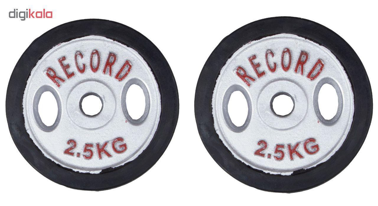 وزنه دمبل رکورد کد 1621 وزن 2.5 کیلوگرم بسته 2 عددی main 1 1