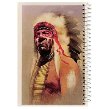 دفترچه یادداشت مدل کژوال طرح سرخ پوست