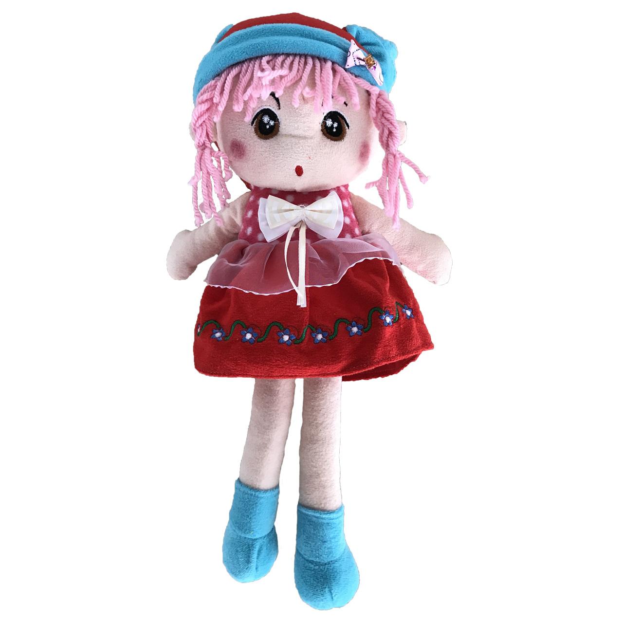 عروسک طرح دختر هدبندی ارتفاع 35 سانتی متر