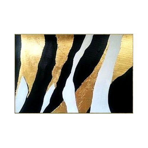 تابلو ورق طلا طرح پلنگی کد 005