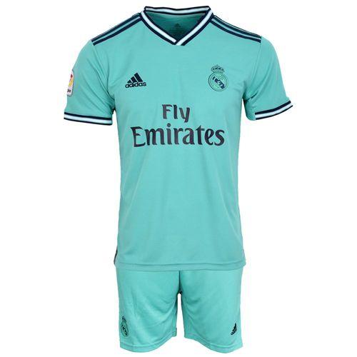 ست تیشرت و شلوارک ورزشی مردانه طرح رئال مادرید کد 2019.20 رنگ سبز
