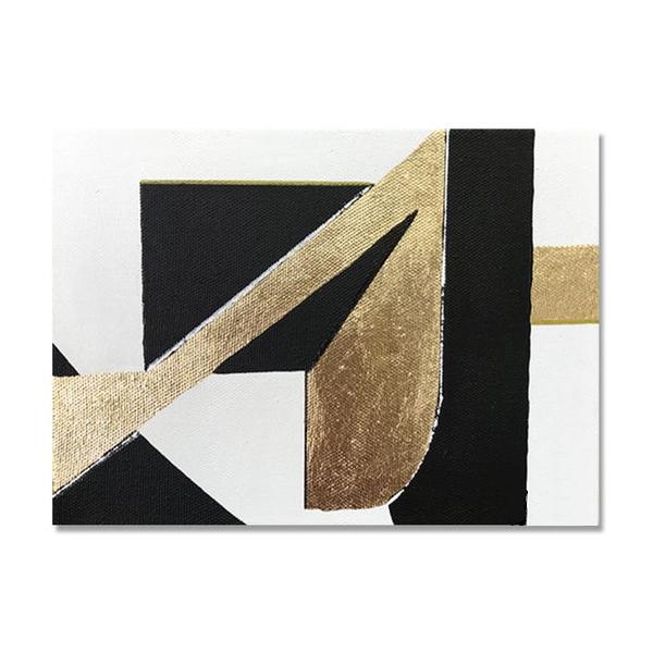 تابلو ورق طلا طرح هندسی کد 007