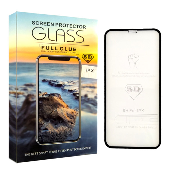 محافظ صفحه نمایش 5D مدل Xmart مناسب برای گوشی موبایل اپل iPhone X/XS