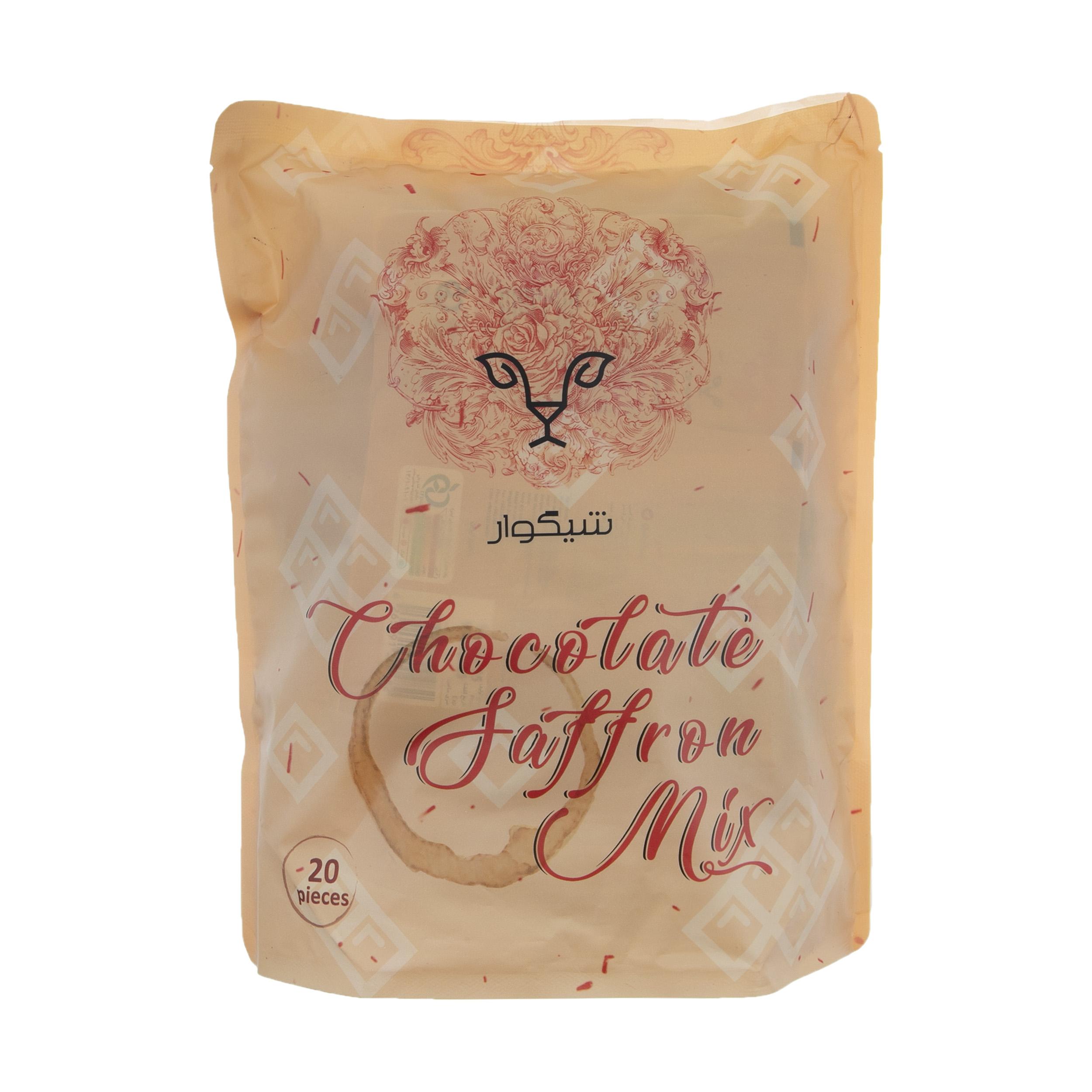 پودر شیر زعفران شیگوار با طعم کاکائو مقدار 400 گرم بسته 20 عددی