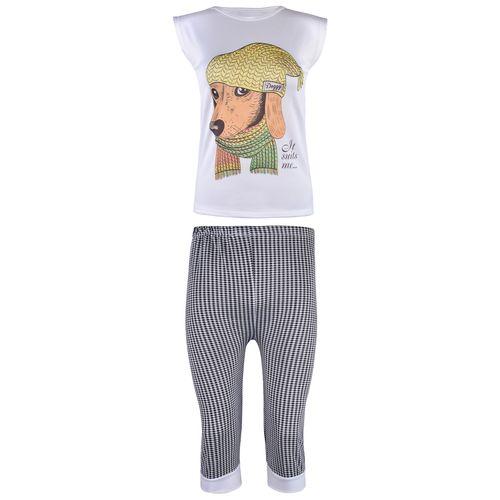 ست تی شرت و شلوارک زنانه کد 2215