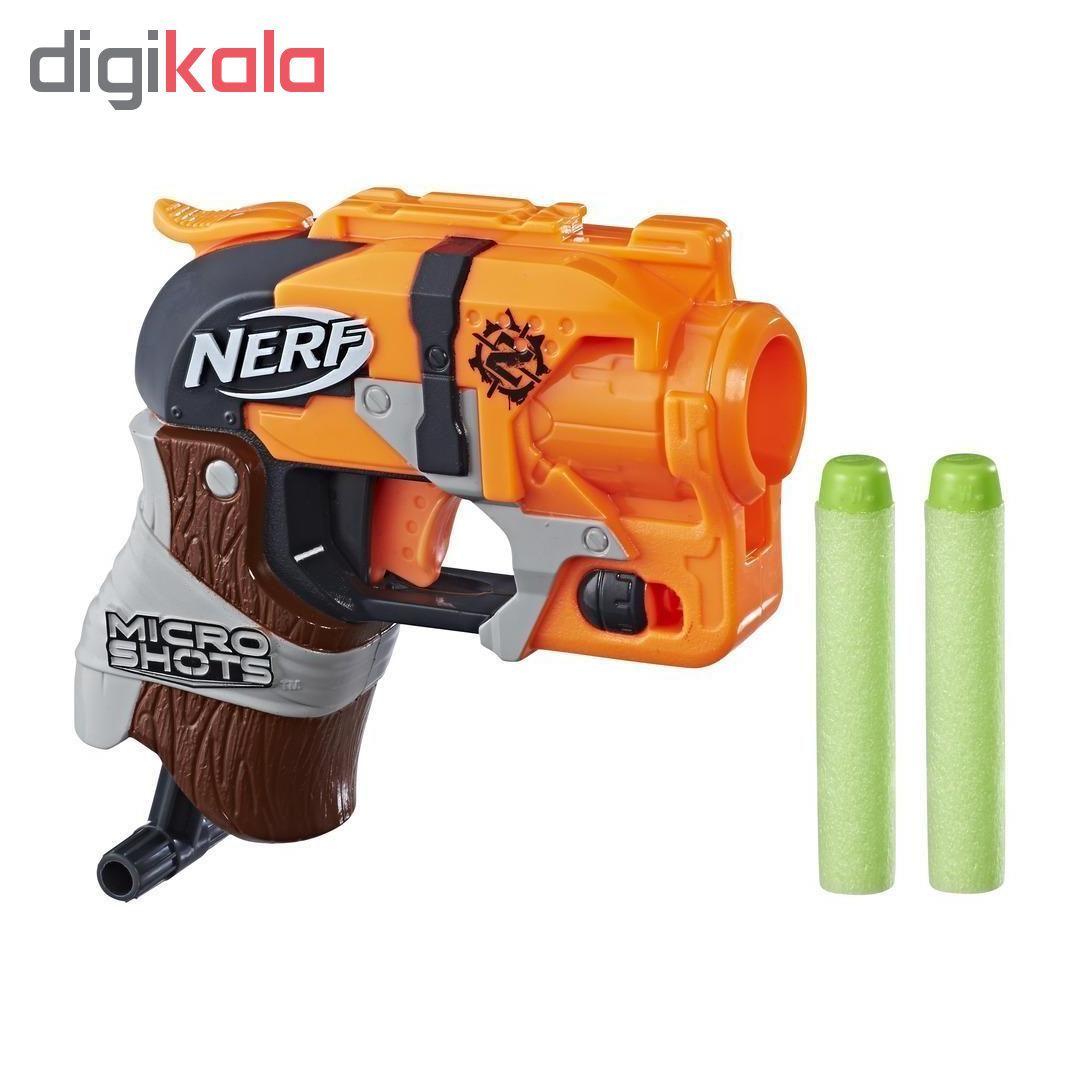 تفنگ بازی نرف مدل MicroShots Zombie Strike Hammershot