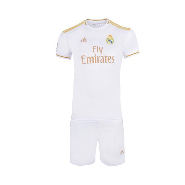 ست تی شرت و شلوارک ورزشی پسرانه طرح تیم رئال مادرید کد 23007