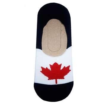 جوراب مردانه طرح پرچم کانادا کد n 22