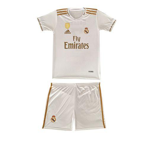 پیراهن و شورت ورزشی پسرانه طرح رئال مادرید کد 7
