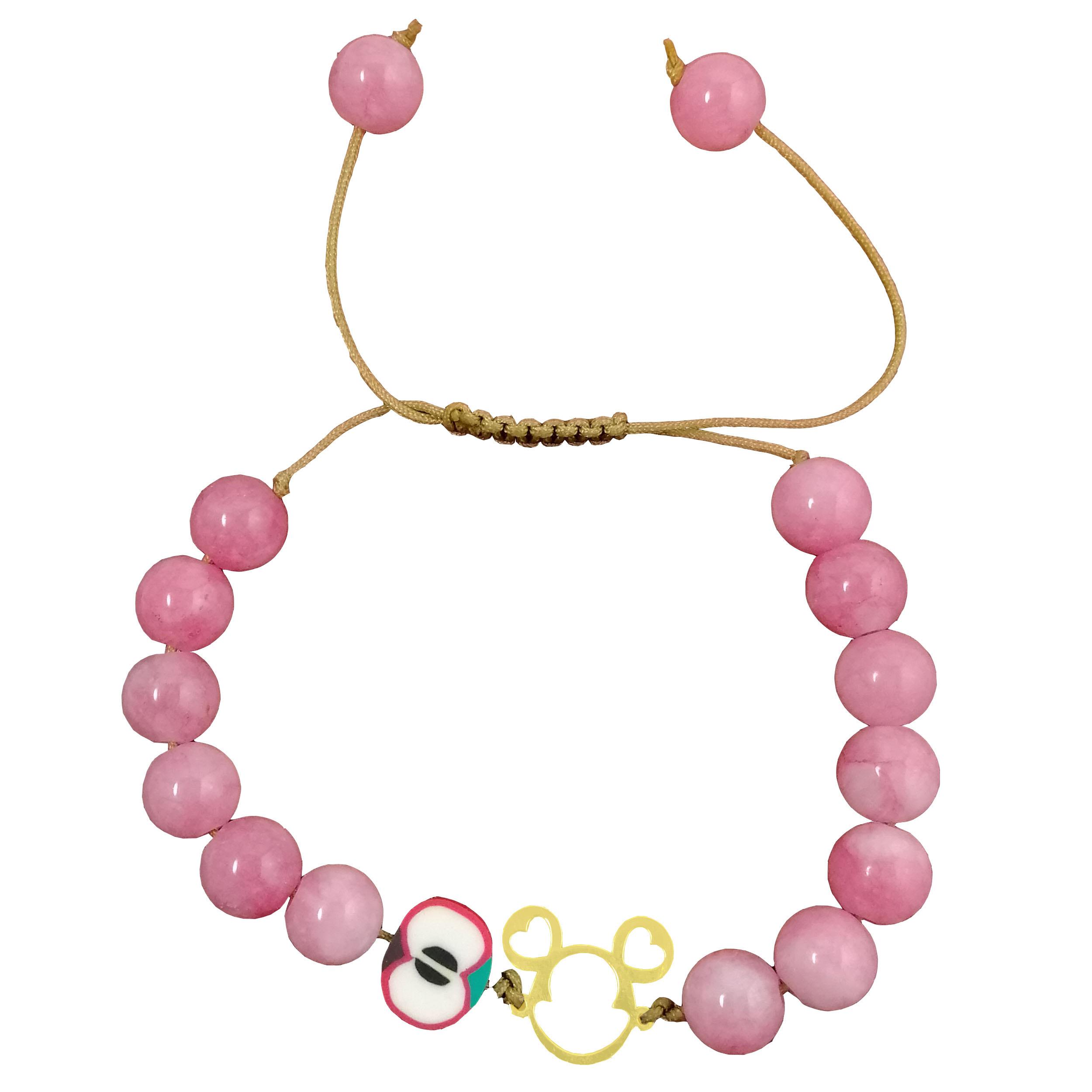 دستبند طلا 18 عیار زنانه طرح MICKEY