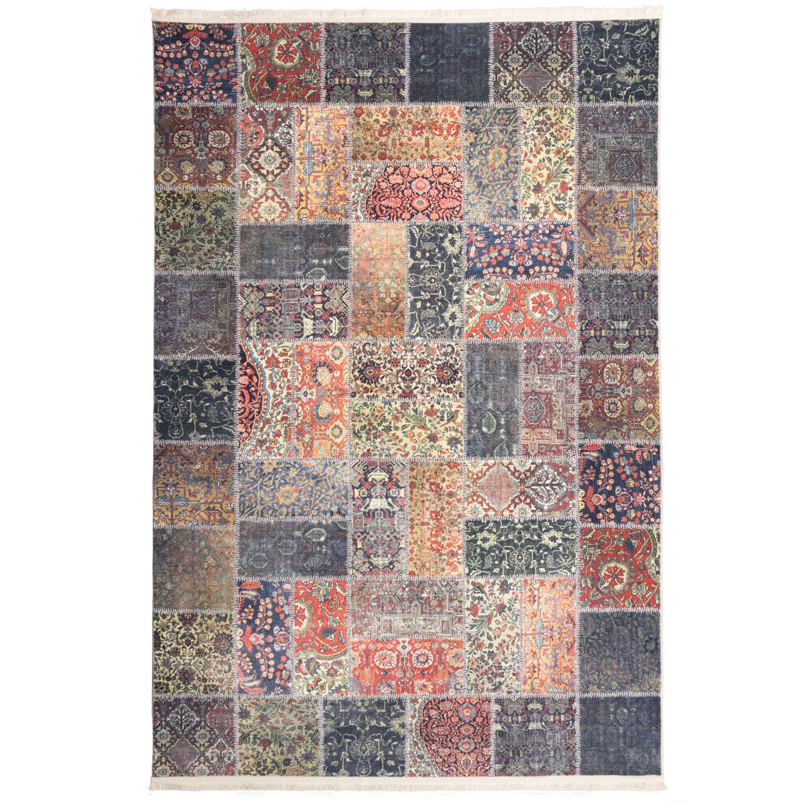 فرش ماشینی محتشم طرح چهل تکه کد 100511