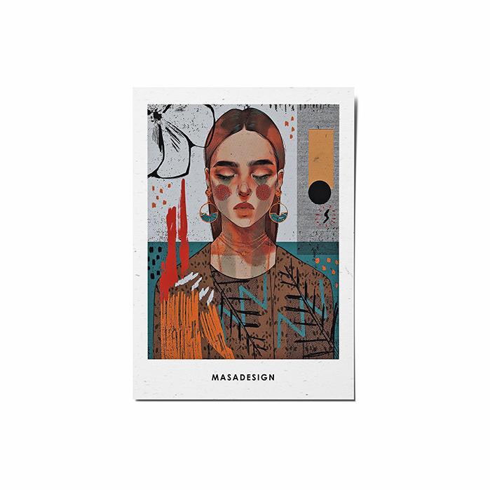کارت پستال ماسا دیزاین طرح دختر کد POST4