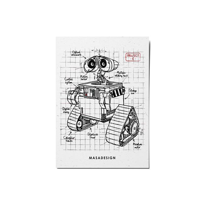 کارت پستال ماسا دیزاین طرح والی کد POST39