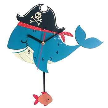 ساعت دیواری ژیوار طرح  pirate whale