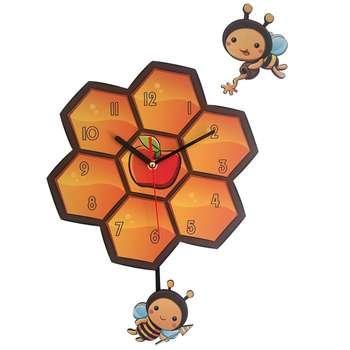 ساعت دیواری ژیوار طرح  زنبور عسل