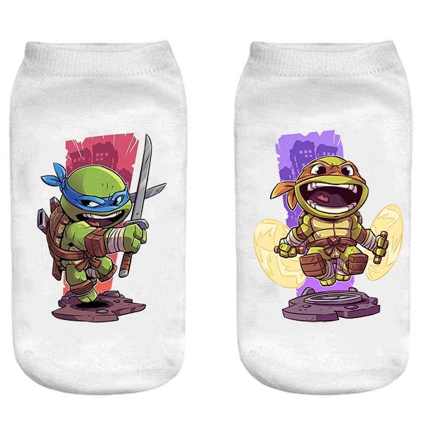 جوراب پسرانه طرح Ninja Turtles کد 10002