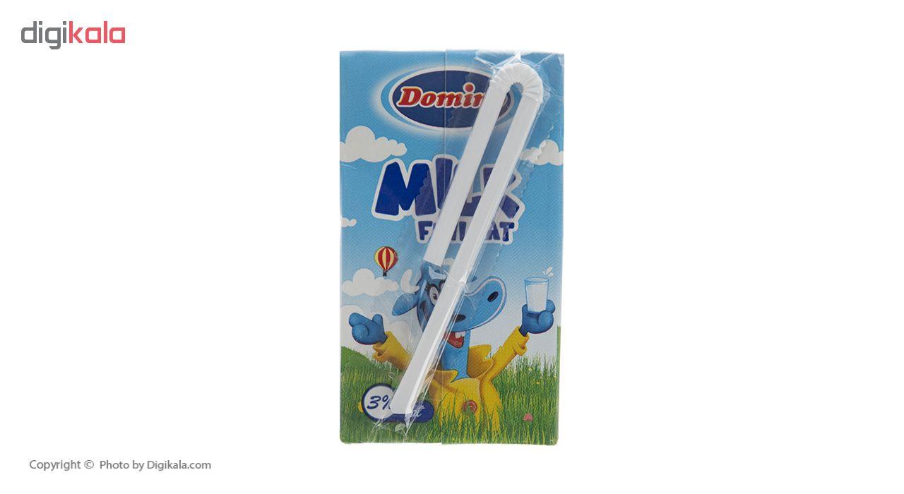 شیر پرچرب دومینو حجم 125 میلی لیتر بسته 12 عددی