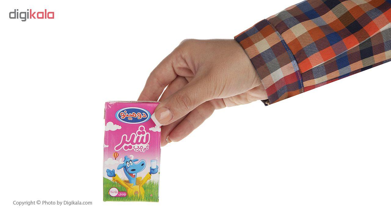 شیر کم چرب دومینو حجم 125 میلی لیتر بسته 12 عددی