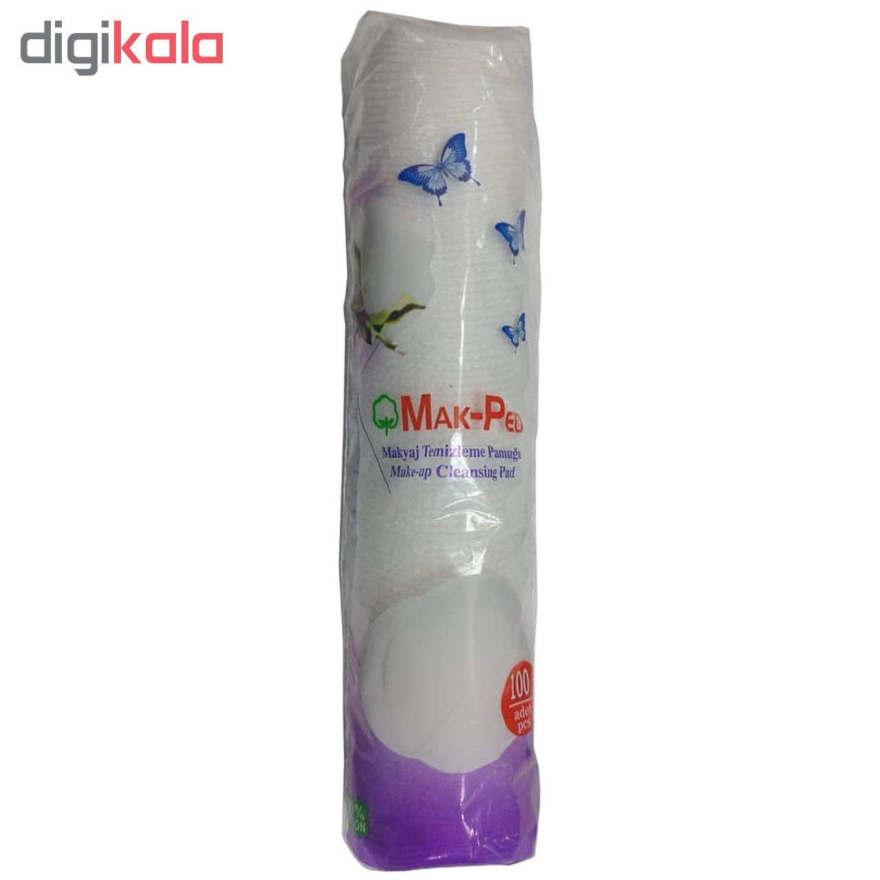 پد پاک کننده آرایش صورت مک پد مدل Silky Touch بسته 100 عددی