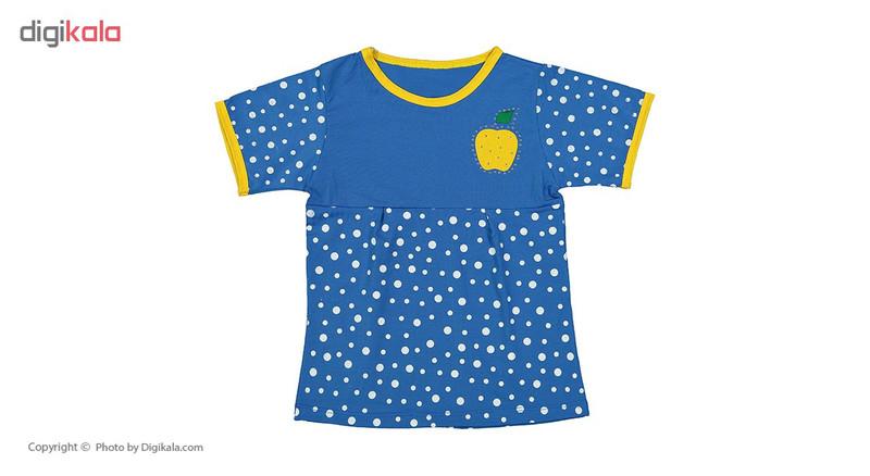 ست تی شرت و شلوارک دخترانه کد 09