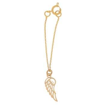 آویز ساعت طلا 18 عیار زنانه طرح بال کد SG318