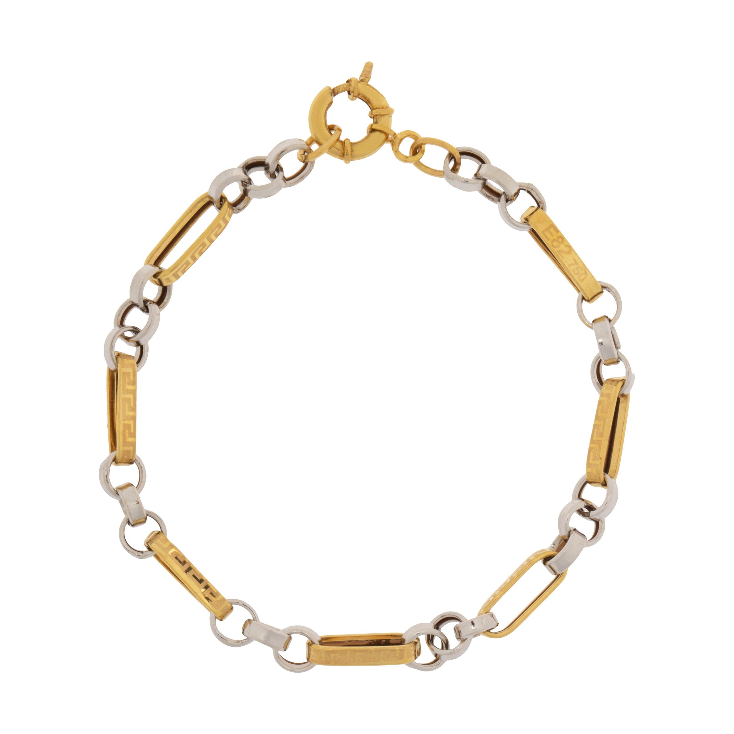 دستبند طلا 18 عیار زنانه کد TG113