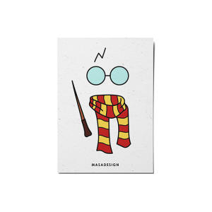 کارت پستال ماسا دیزاین طرح هری پاتر کد POST46