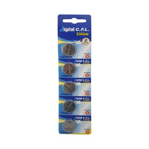 باتری سکه ای دیجیتال سی.اف.ال مدل B4 بسته 5 عددی