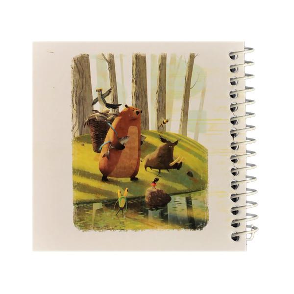 دفتر یادداشت ژوست طرح خرس ماهیگیر مدل کژوال کد ۰۱