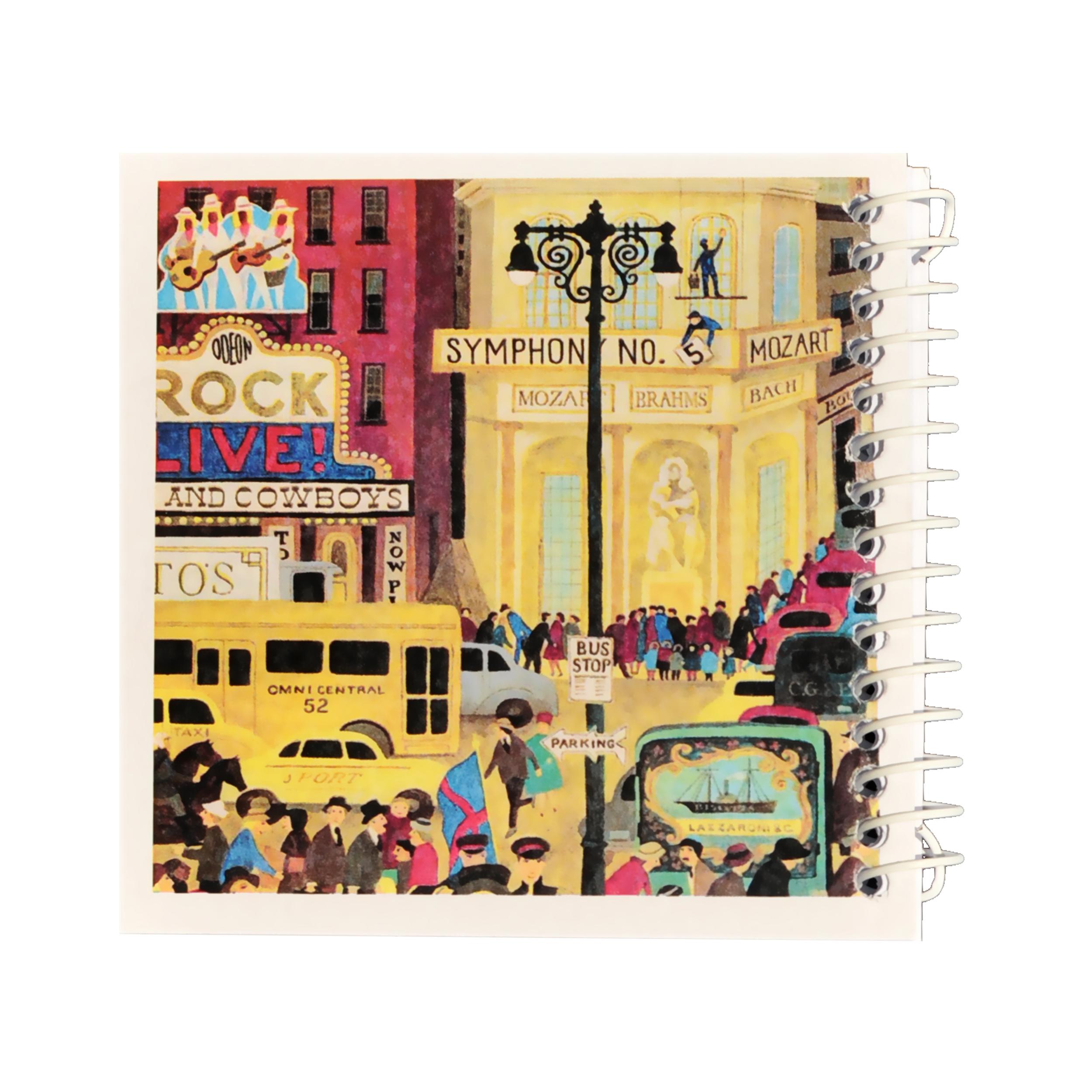 دفتر یادداشت ژوست طرح شهر پر هیاهو مدل کژوال کد ۰۱