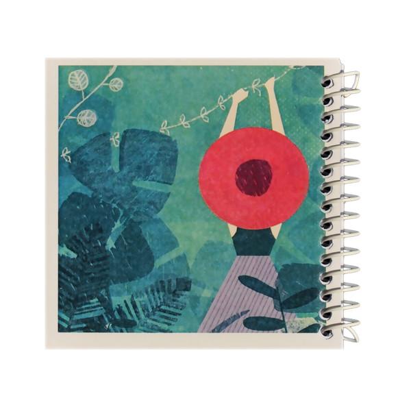 دفتر یادداشت ژوست طرح دخترک در جنگل مدل کژوال کد ۰۱