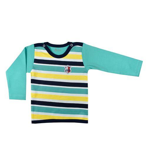 تی شرت آستین بلند نوزادی پسرانه نیروان کد 10