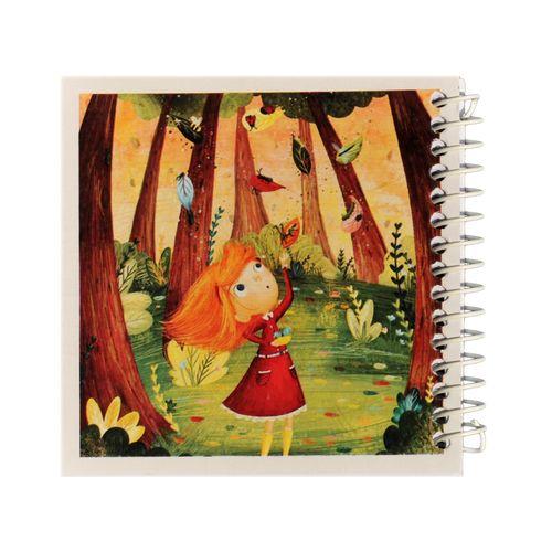 دفتر یادداشت ژوست طرح دختر  بازیگوش در جنگل مدل کژوال کد ۰۱