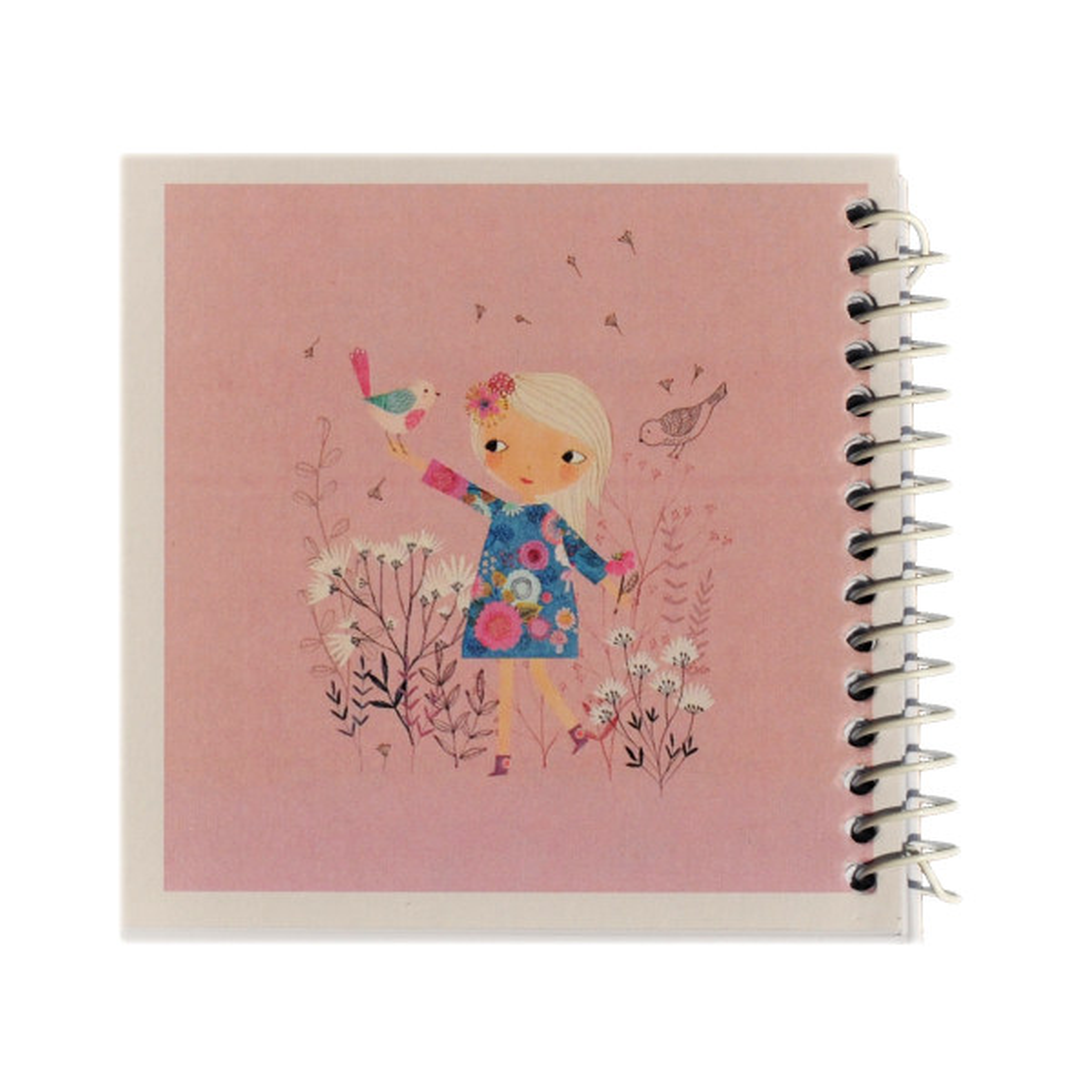 دفتر یادداشت ژوست طرح دخترک و پرنده ی رنگی مدل کژوال کد ۰۱