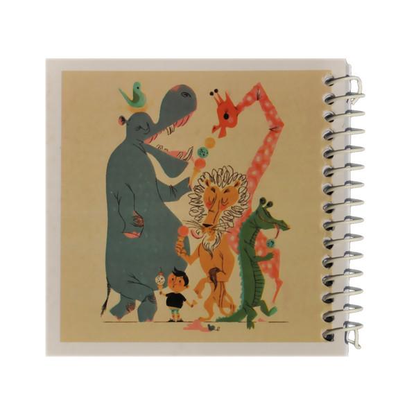 دفتر یادداشت ژوست طرح باغ وحش و پسرک مهربان مدل کژوال کد ۰۱