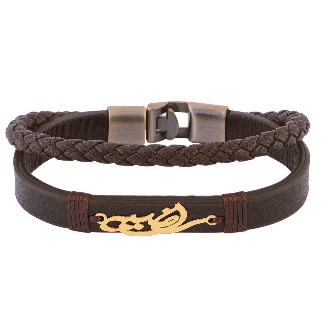 دستبند طلا 18 عیار زنانه کابوک طرح راضیه کد c0065